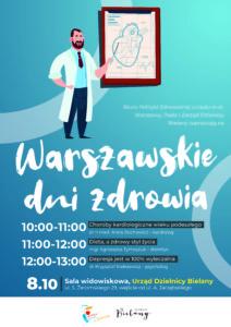 Plakat Warszawskie Dni Zdrowia